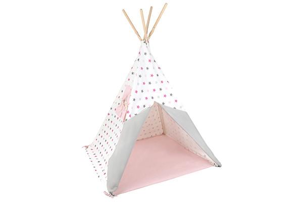 Tipi Tent Kinderkamer : Bandits & angels tipi tent bandits stars pink grey speeltentxl.be